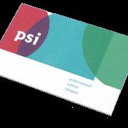 Corporate identiteit, logo en huisstijl voor PSI