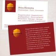 Visitekaartje voor Haagse Hoogvliegers, met de visie achterop